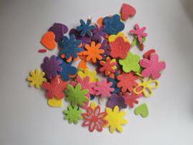 foamstickers 77st. hart en bloem