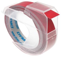 10 stuks Labeltape Dymo rol 9mmx3M glossy vinyl prof rood