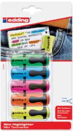 Markeerstift edding 7 Mini assorti blister à 5st