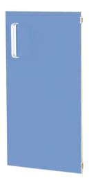 Deur voor smalle kast Flexi en kast M met scheidingswand rechts - blauw