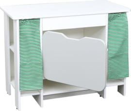 Quadro keuken - Kast met planken, wit