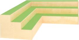 Hoekplatform met trappen