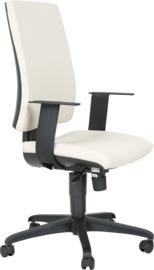 INTRATA bureaustoel met hoge rugleuning, zwart - beige