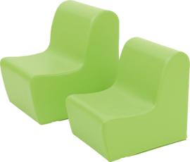 Kleine stoel licht groen