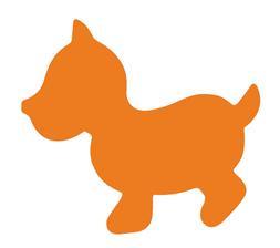 Plakfiguur 400 stuks assorti - Hond