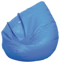 Kleine zitzak poef - peer blauw