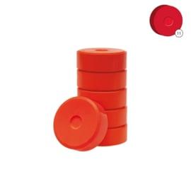 Colorall verfblokken Ø 5,5 cm  6 dlg - Rood