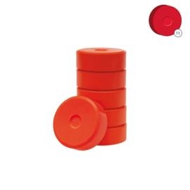 Plakkaatverf | Collall | Oranje | Ø 5,5 cm | 6 tabletten