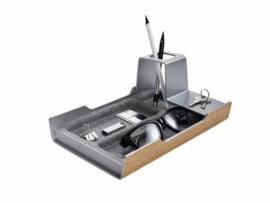 Bureau organizer Sigel Smartstyle zilvergrijs/hout