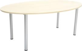 Ovale tafel 100 x 180 cm esdoorn