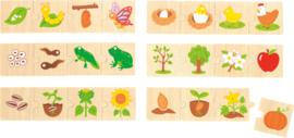 Groeiende dieren en planten puzzels