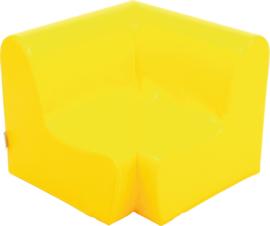 Lage hoekbank  51,5cm zithoogte 20cm  - Geel