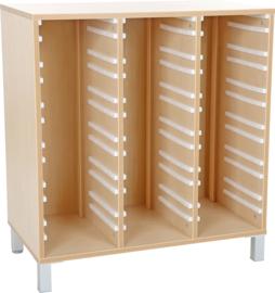 Premium 3 kolommen kast voor plastic bakken