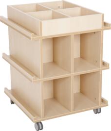 Flexi boekenkast met wielen