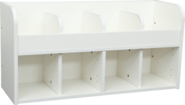 Quadro garderobe plank 4, wit