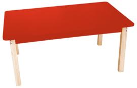Rechthoekige kleurrijke tafelblad rood