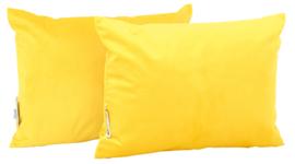Rechthoekige kussens, geel, 2 stuks