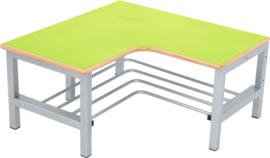 Flexi garderobe hoekbank 4, zithoogte 35 cm., groen