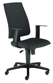 INTRATA bureaustoel met hoge rugleuning,  zwart - zwart