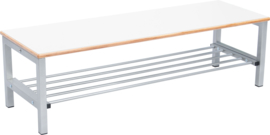 Flexi garderobe bank 4, hoog 35 cm - wit