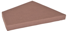 Quadro 2 matras bruin, hoogte 10 cm