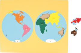 Wereldkaart - continenten