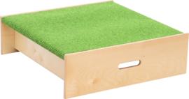 Vierkant platform, hoogte: 20 cm,  groen