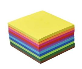500 vel vouwkartons G1 20x20 10 kleuren assorti