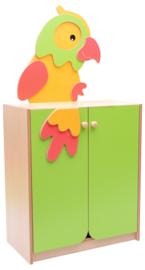 Kast met papegaai applicatie