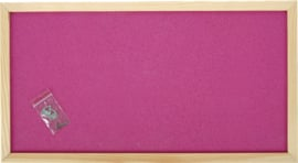 Prikbord 100 x 200 cm - roze