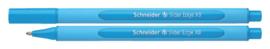 Balpen Schneider Slider Edge lichtblauw extra breed
