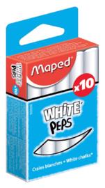 Bordkrijt Maped Color'Peps wit stofvrij 10 stuks
