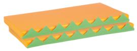 Matrassen voor manipulatieve wand - oranje 2 stuks