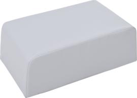 Kleine zachte tafel poef hoogte 24cm - grijs
