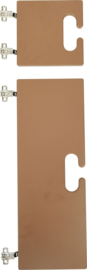 Kleine en grote deur voor kameleon garderobe - bruin
