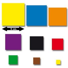 Set plakfiguren vierkanten 9 maten