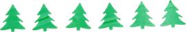 Confetti - groene kerstbomen