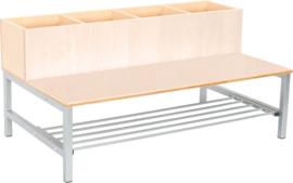 Flexi combibank 4, zithoogte 35 cm., esdoorn