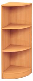 Medium hoek boekenkast beuken