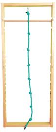 Wandrek met hangend touw