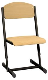 Len stoel met instelbare hoogte - maat 1-6 zwart
