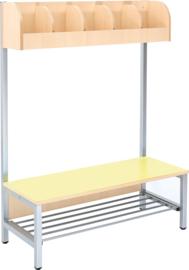 Flexi garderobe 5, zithoogte 35 cm - geel