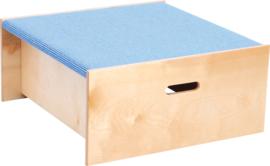 Vierkant platform, hoogte: 30 cm, licht blauw