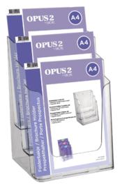 Folderhouder OPUS 2 3vaks A4 transparant