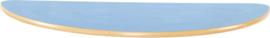 Halfrond Flexi tafelblad 120x60cm blauw los