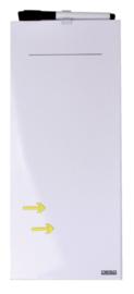 Whiteboard Desq memo 15x35cm randloos + marker - pijlen