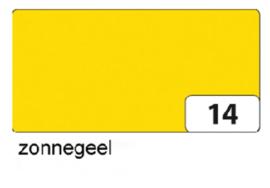 Engels karton  2 zijdig 50x70cm 300gr nr14 zonnegeel