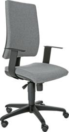 INTRATA bureaustoel met hoge rugleuning, zwart - grijs