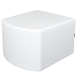 Bolle witte poef zithoogte 44 cm
