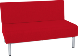 Brandvertragende sofa, dubbel - donkerrood